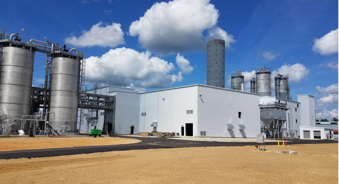 2018年10月に開設された米国チャールストンにあるエボニックの新たなシリカ工場